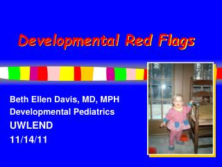 Developmental Red Flags