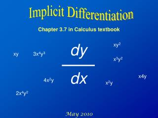 Chapter 3.7 in Calculus textbook May 2010