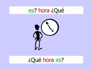 es ?  hora  ¿Qué