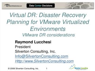 Raymond Lucchesi President Silverton Consulting, Inc. Info@SilvertonConsulting
