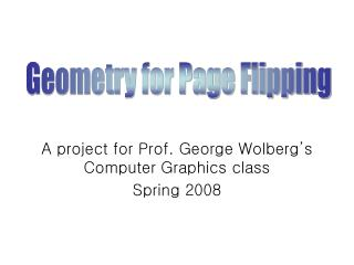 A project for Prof. George Wolberg's Computer Graphics class Spring 2008