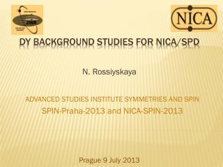 DY Background  studies for NICA/SPD
