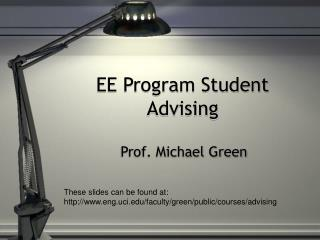 EE Program Student Advising