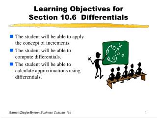 Learning Objectives for  Section 10.6  Differentials