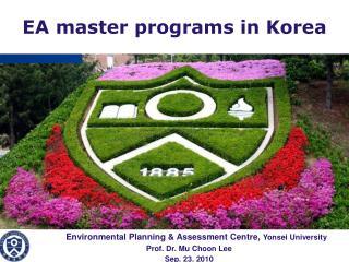 EA master programs in Korea