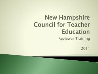 New Hampshire  Council for Teacher Education