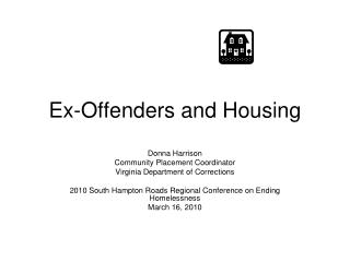 Ex-Offenders and Housing