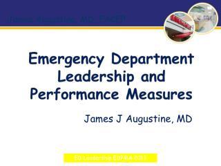 Emergency Department Leadership and Performance Measures