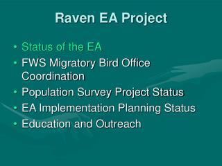 Raven EA Project