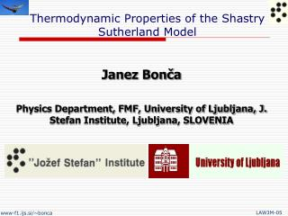 Thermodynamic Properties of the Shastry Sutherland Model