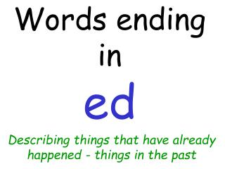 Words ending in