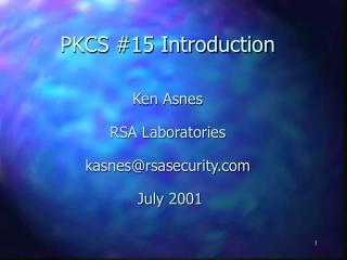 PKCS #15 Introduction