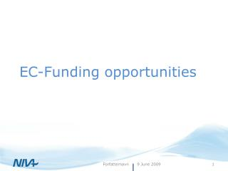 EC-Funding opportunities
