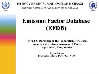 Emission Factor Database (EFDB)