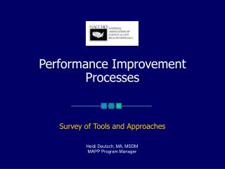 Performance Improvement Processes