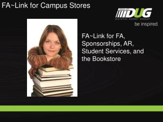 FA~Link for FA, Sponsorships, AR, Student Services, and the Bookstore