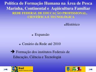 REDE FEDERAL DE EDUCA  O PROFISSIONAL, CIENT FICA E TECNOL GICA
