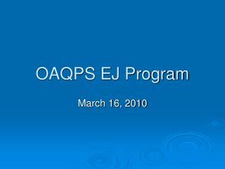 OAQPS EJ Program