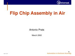 Flip Chip Assembly in Air