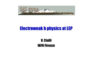 Electroweak b physics at LEP
