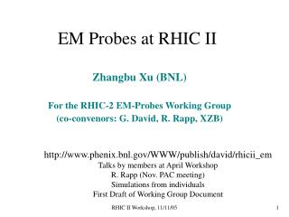 EM Probes at RHIC II