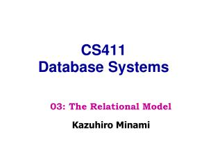 CS411 Database Systems