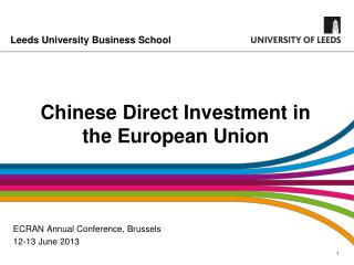 Chinese Direct Investment in the European Union