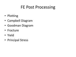 FE Post Processing