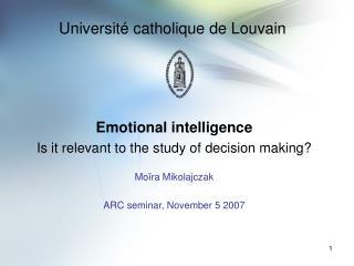 Université catholique de Louvain