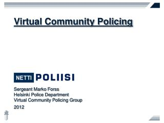 Virtual Community Policing