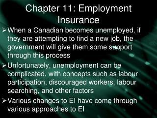 Chapter 11: Employment Insurance