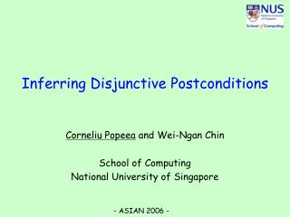 Inferring Disjunctive Postconditions