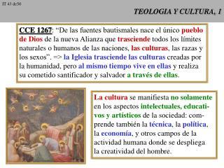 TEOLOGIA Y CULTURA, 1