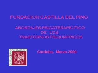 FUNDACION CASTILLA DEL PINO ABORDAJES PSICOTERAPEUTICO  DE   LOS     TRASTORNOS PSIQUIATRICOS