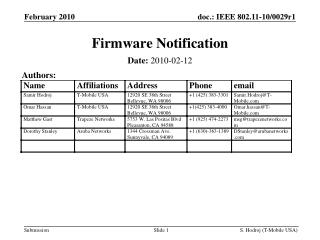 Firmware Notification