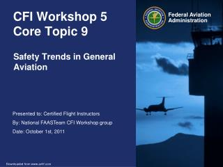 CFI Workshop 5 Core Topic 9