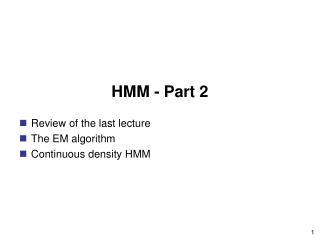 HMM - Part 2
