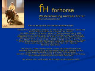 Hier ein Kurzportr�t des Trainers Andreas Forrer: