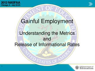 Gainful Employment Understanding  the  Metrics and Release of Informational Rates