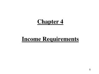 Chapter 4 Income Requirements