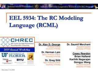 EEL 5934: The RC Modeling Language (RCML)