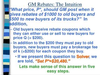 GM Rebates: The Intuition