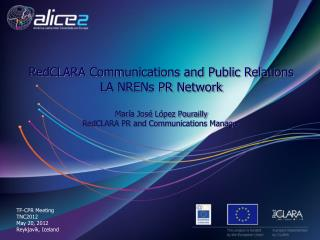 RedCLARA Communications and Public Relations LA NRENs PR Network