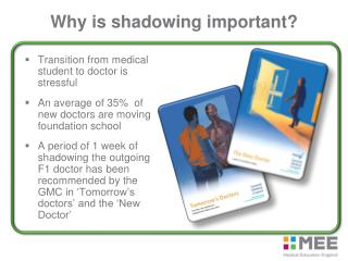 Why is shadowing important?