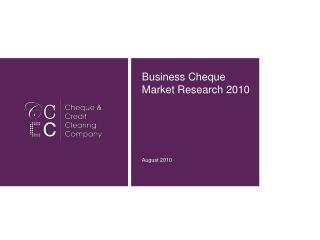 Business Cheque Market Research 2010