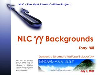 NLC  gg  Backgrounds