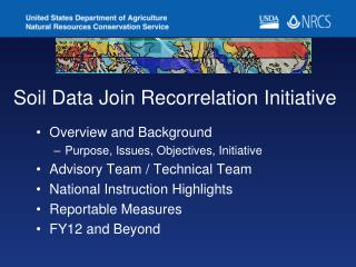 Soil Data Join Recorrelation Initiative
