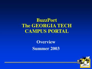 BuzzPort The GEORGIA TECH CAMPUS PORTAL