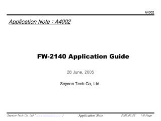FW-2140 Application Guide