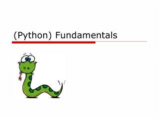 (Python) Fundamentals